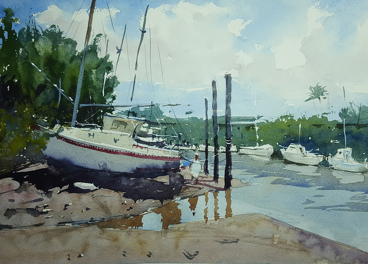 World Watercolor Month - Watercolor by Tim Wilmot - Yeppoon in Queensland - Doodlewash