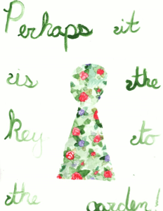 Inspired by The Secret Garden, though most of the words didn't make it through scanning unscat