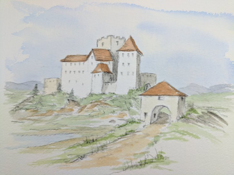 gate house and castle