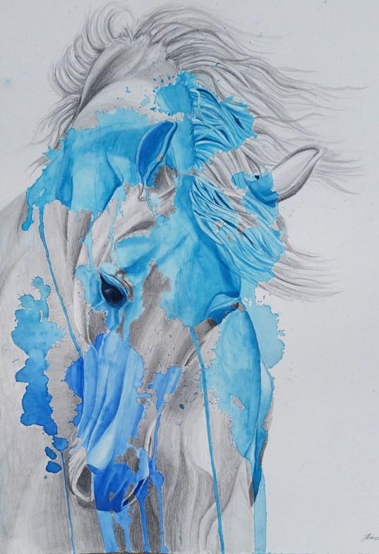 #WorldWatercolorGroup - Watercolor painting - horse portrait - by Taylor Barton - Doodlewash