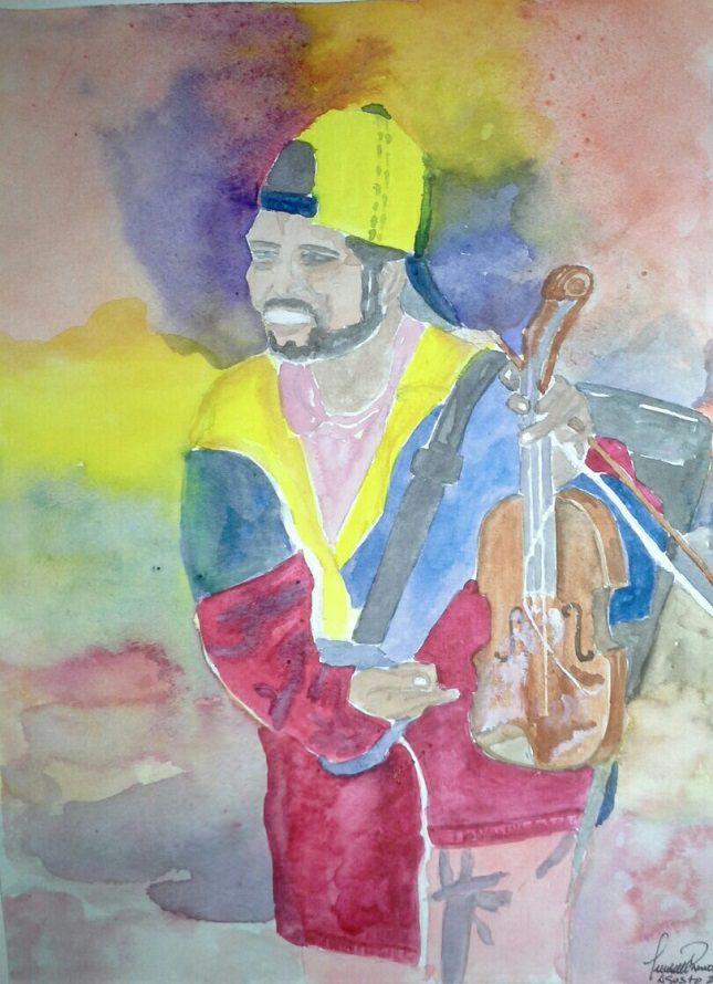 6. The protest violinist. 6. El violinista las protestas