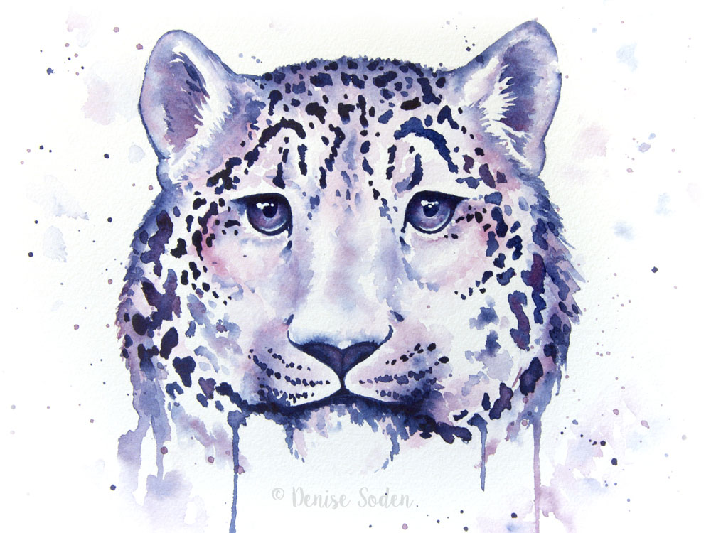 #WorldWatercolorGroup - Watercolor by Denise Soden - leopard - Doodlewash