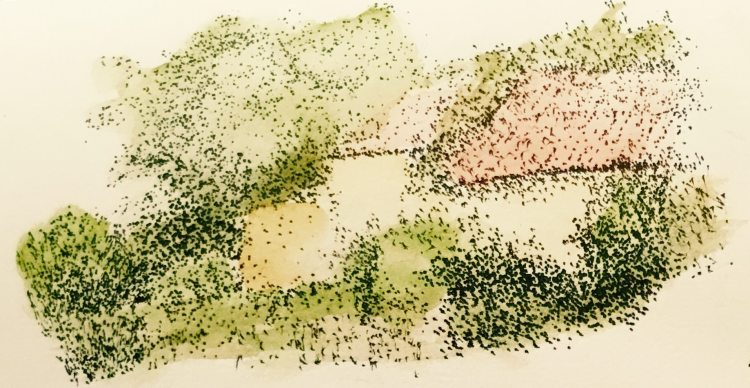 Doodle with dot pen and watercolour IMG_0073