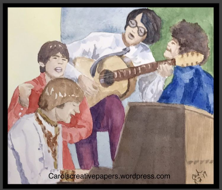 Favorite Song – I couldn't decide on just one, so I painted the group whose songs always