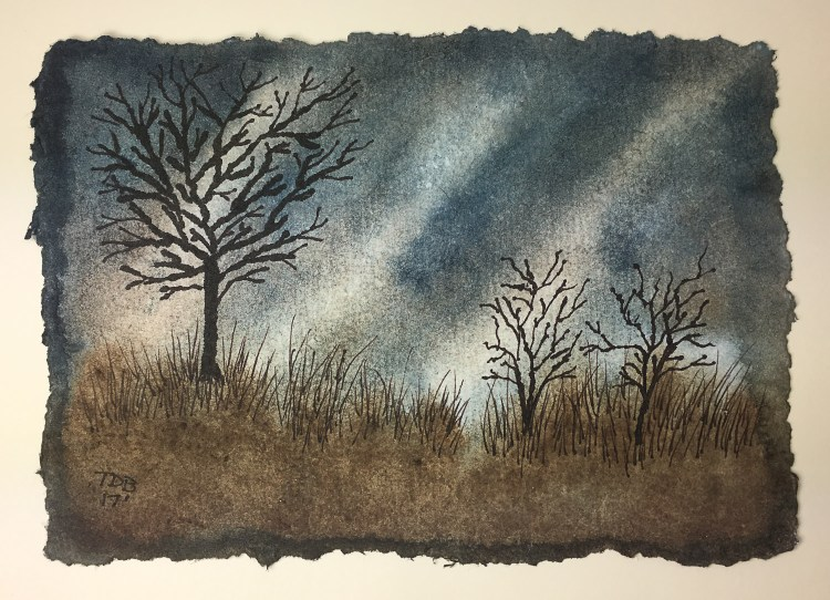 """5"""" x 7"""" watercolor – Trying out Nujabi 200lb. Handmade Watercolor Paper #nujabiwatercolorp"""
