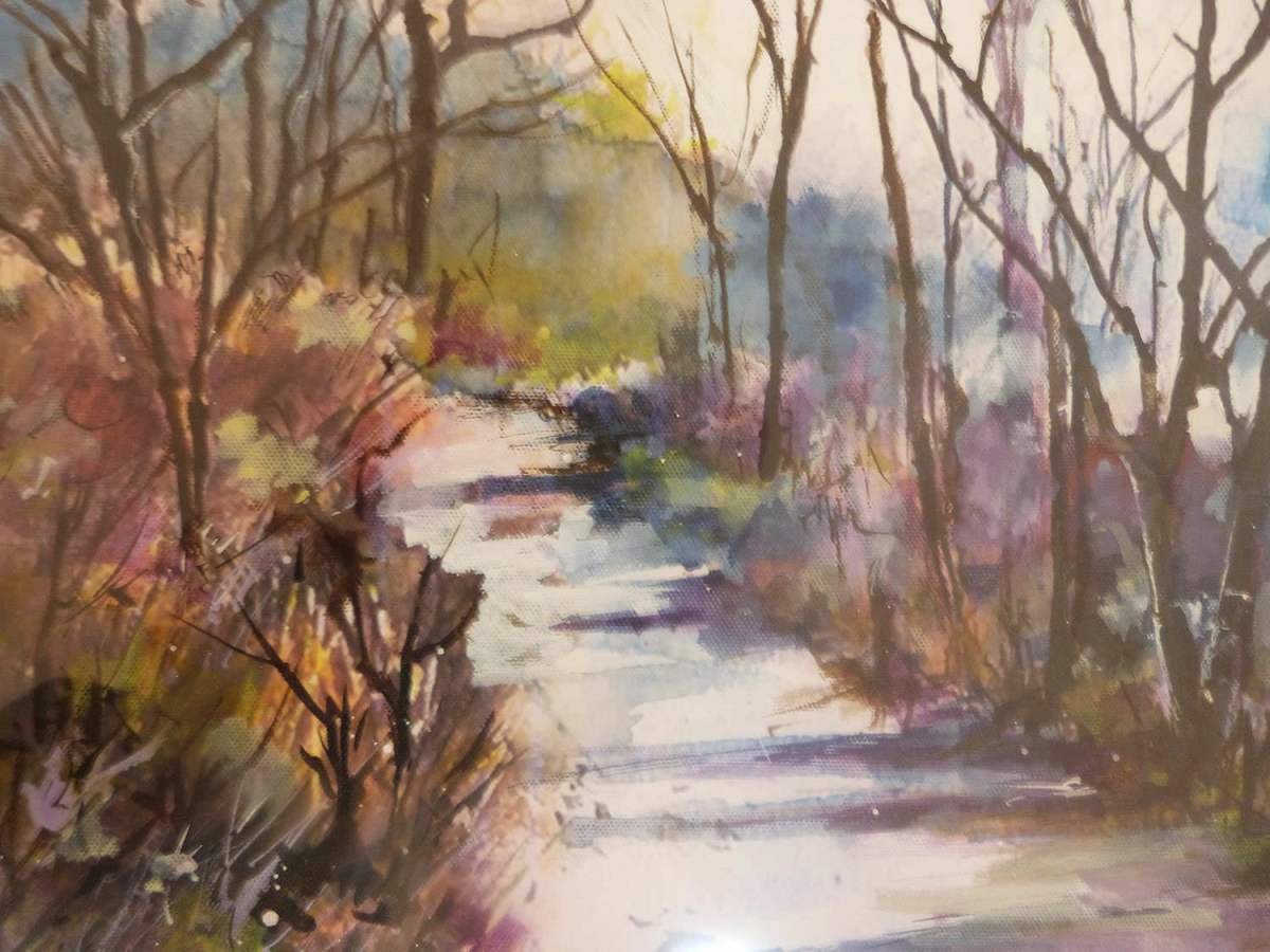 #WorldWatercolorGroup - 'Purple Shadows' by Di White - Doodlewash
