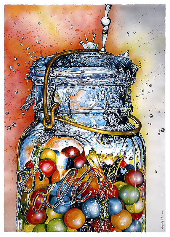 Watercolor painting by Al Vesselli - Doodlewash