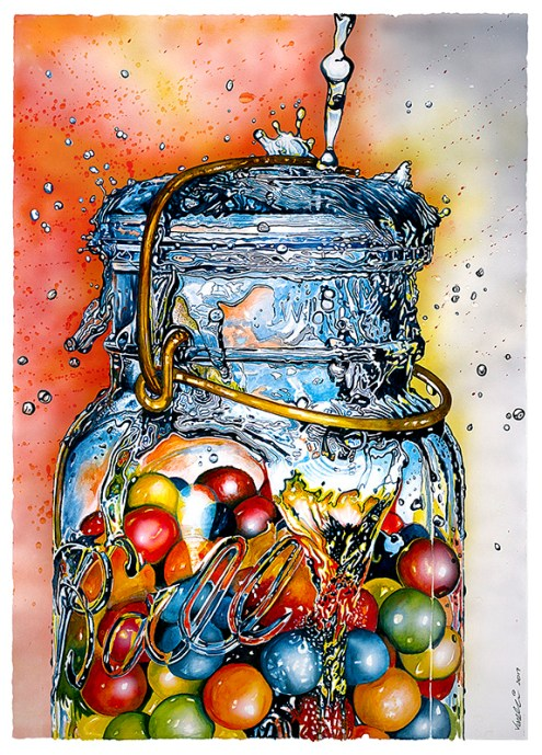 Watercolor painting by Al Vesselli - Doodlewash