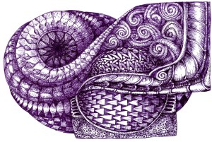 How lovely! I tend to draw with the inks more than to paint with them. I'm into Zentangle and