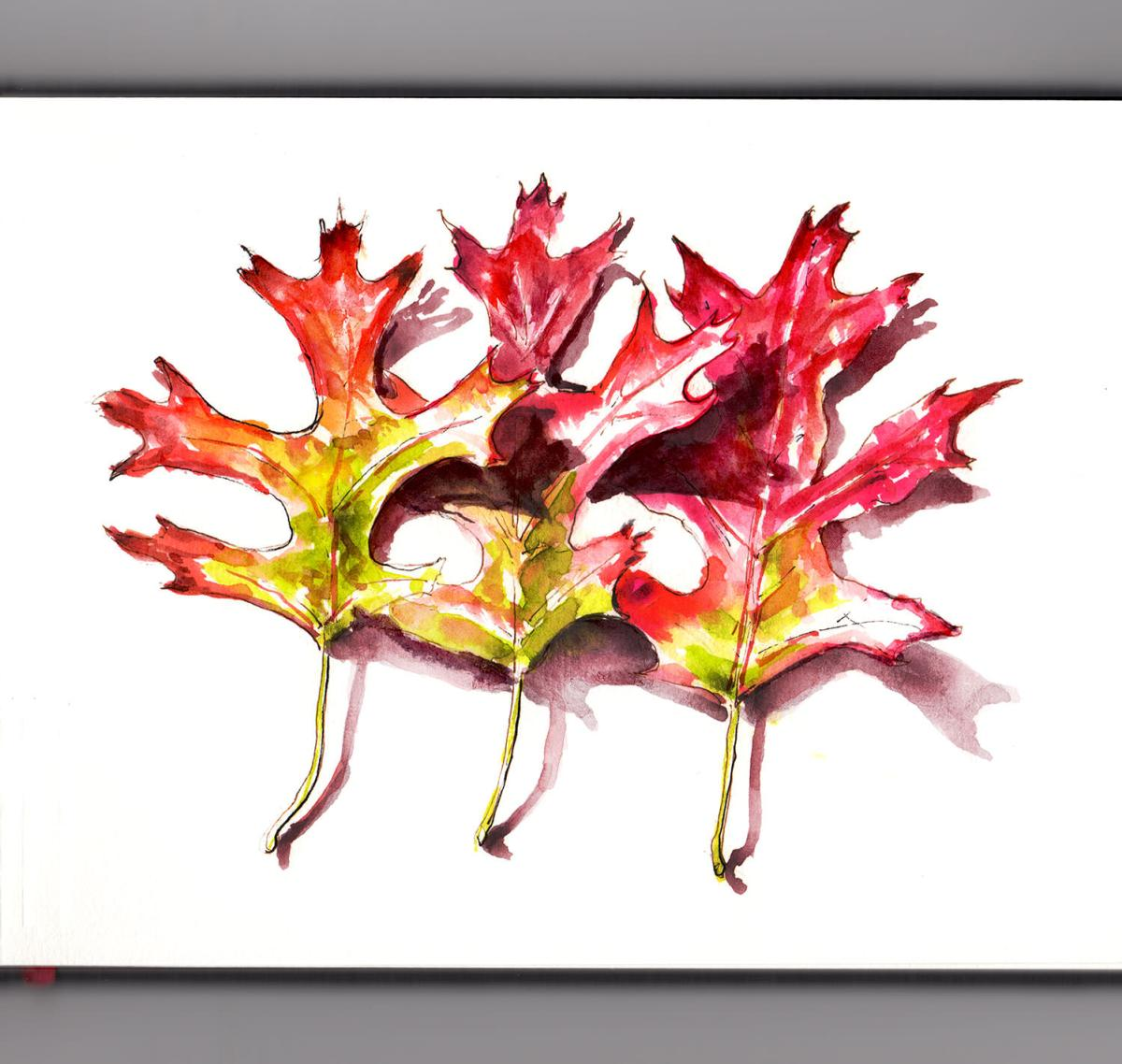 World Watercolor Group - Day 11 - My Favorite Weather - Autumn Leaves - Doodlewash