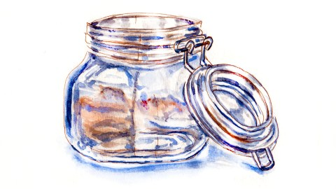 World Watercolor Group - Day 17 - My Favorite Colors - Glass Jar - Doodlewash