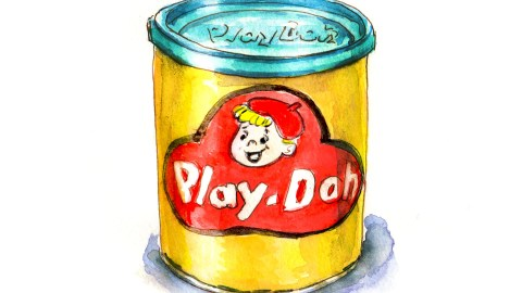#WorldWatercolorGroup - Day 21 - My Favorite Toy - Play-Doh - 70s - Doodlewash