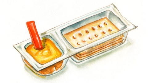 #WorldWatercolorGroup - Day 30 - My Favorite Snack - Cheese and Crackers - Doodlewash