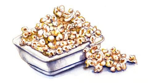 World Watercolor Group - Day 5 - My Favorite Movie - Popcorn - Doodlewash