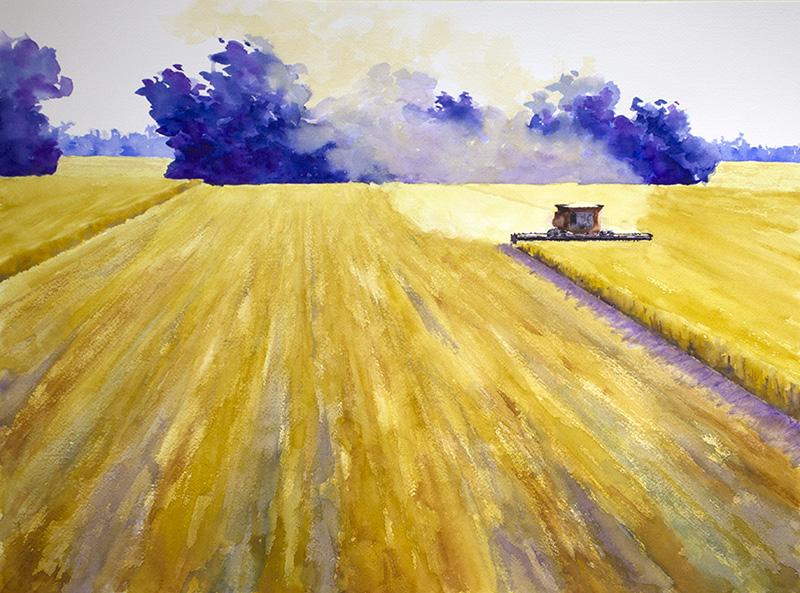 #WorldWatercolorGroup - Watercolor painting by Robin Edmundson - Doodlewash