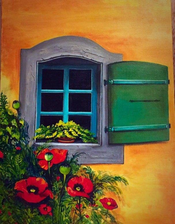 Painting by Raka Mittra - Acrylic