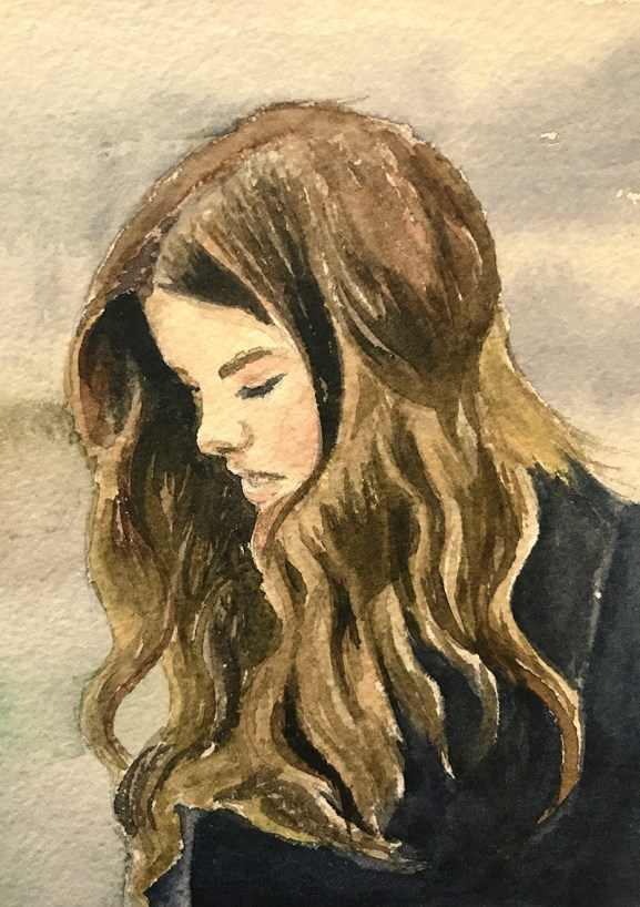 #WorldWatercolorGroup - Watercolor by Brittany Lane Allen - girl - Doodlewash