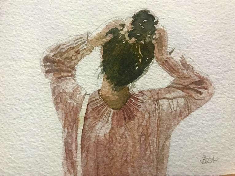 #WorldWatercolorGroup - Watercolor by Brittany Lane Allen - portrait - Doodlewash