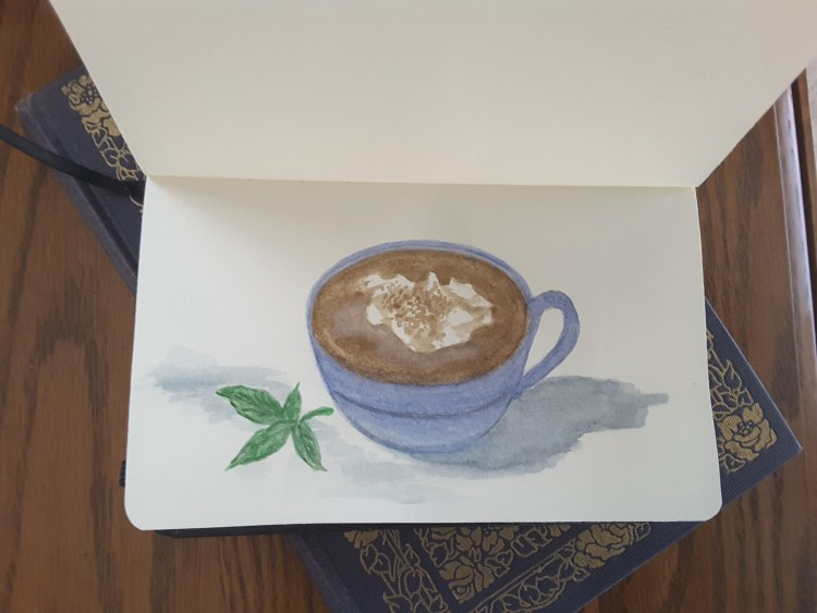 "September challenge 2017 Day 4 ""Hot cocoa and whipped cream"" I added a little mint. &#x1"