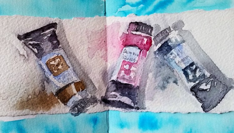 Jumping into this watercolour challenge today. For me it is better not to get near art supply stores