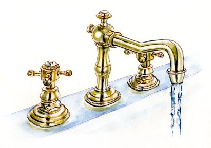 Day 6 - A Long Hot Bath - Bathroom Faucet