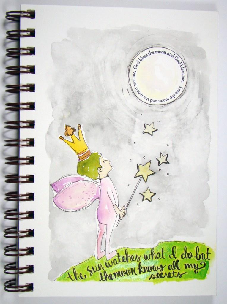 Feeling a moon vibe… God bless the moon by Sandee Setliff