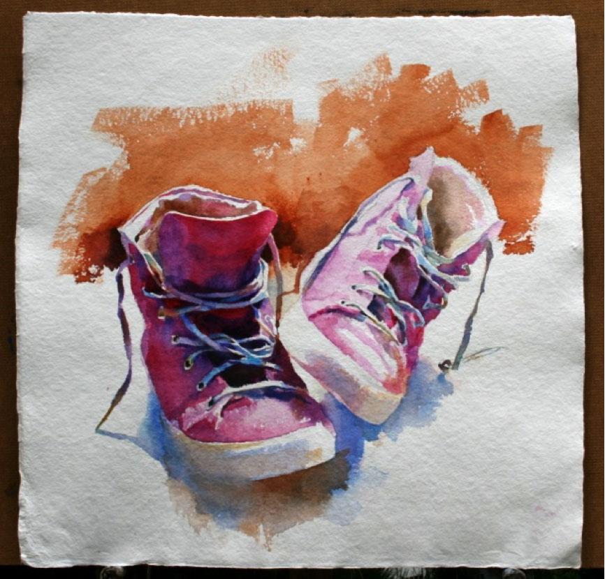 #WorldWatercolorGroup - Watercolour by Hazel Sloan - Doodlewash