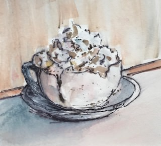 "Day 4 Sept 2017 ""Hot Cocoa & Whipped Cream"" Hot Cocoa & Whipped Cream"