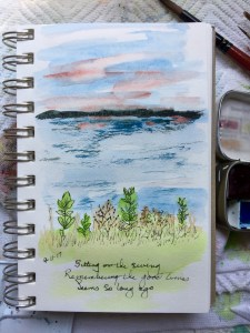 A little 5 minute sketch sitting on the swing at the lake. A sketch I've done a hundred times