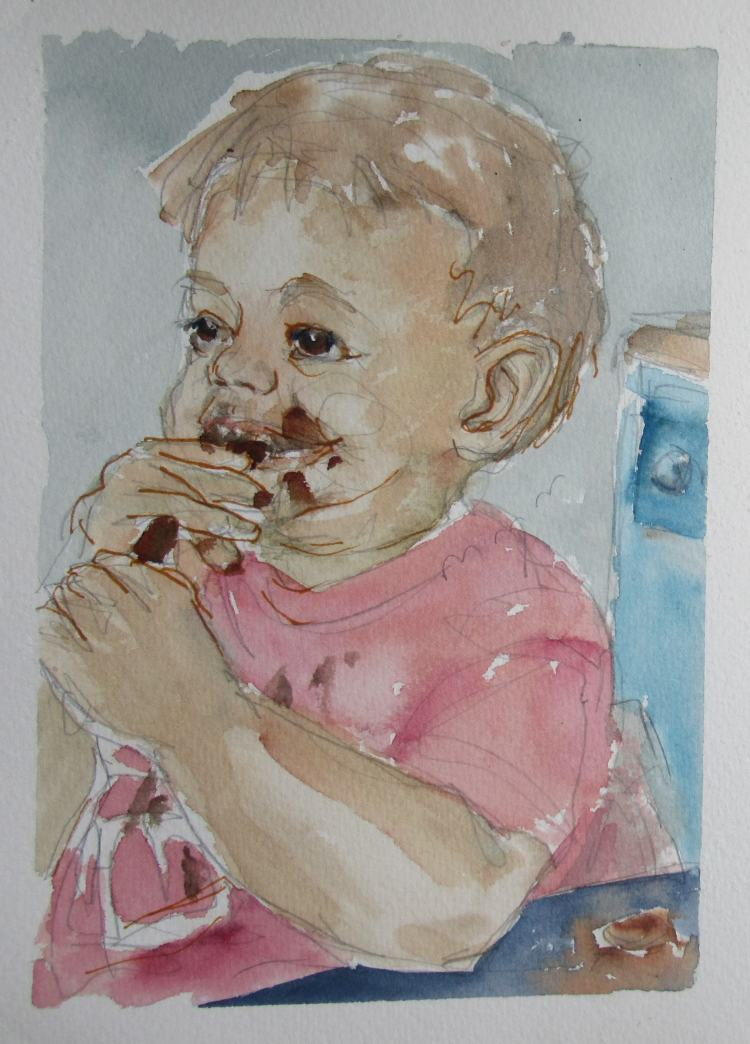 2nd September: chocolate melting in the mouth – not so happy with this little pic – the