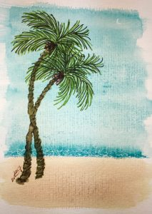 https://dkatiepowellart.me/2017/09/01/hahnemuhle-post-cards-10-palms/ #Hahnemuhle #palms #postcards
