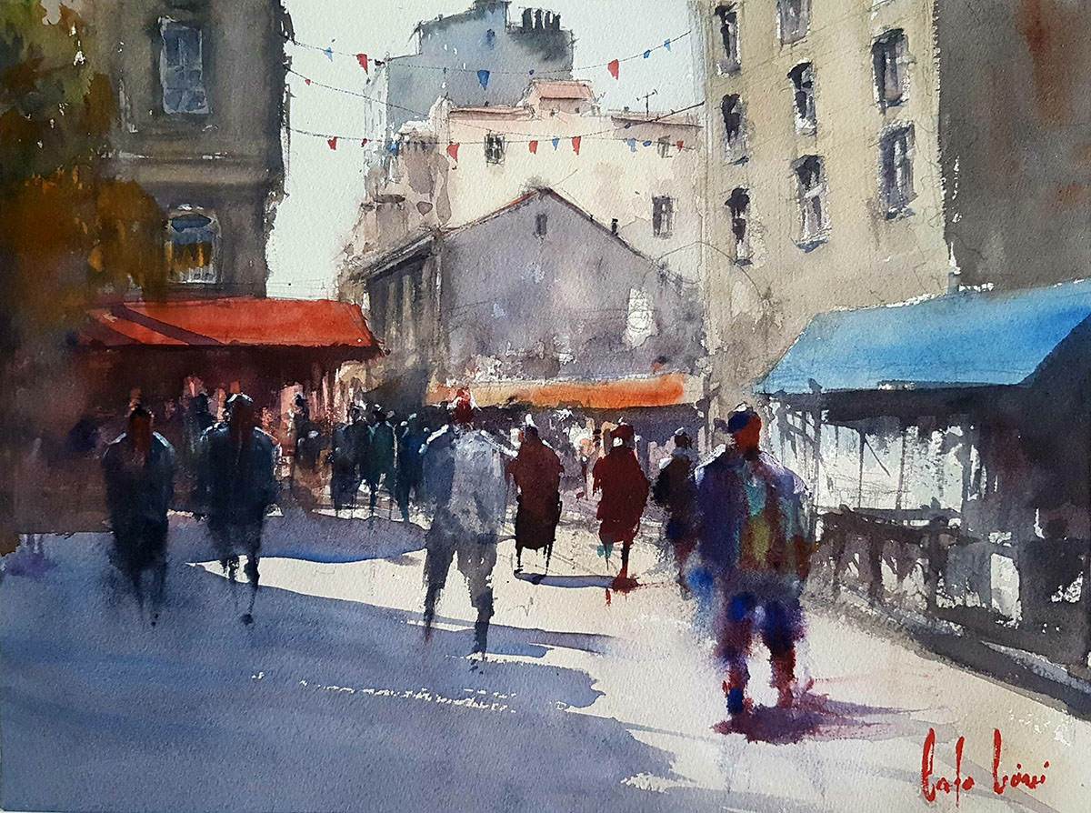 #WorldWatercolorGroup - Watercolour Painting by Baha Börü - Doodlewash
