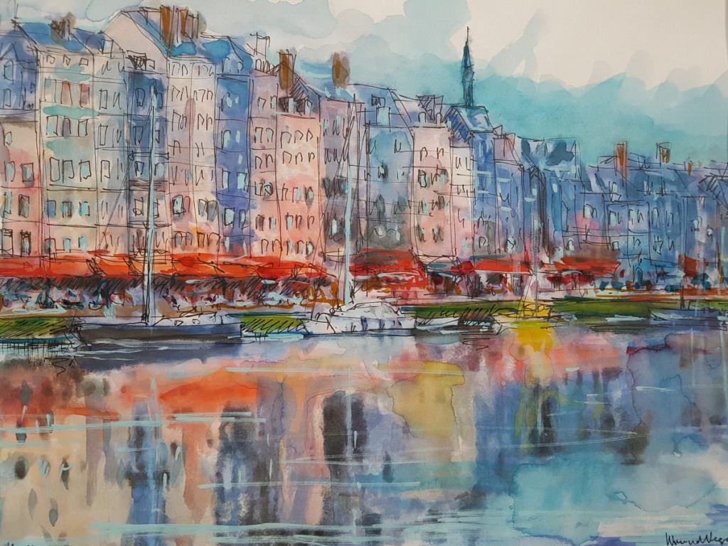 Honfleur, a beautiful place. The whole look of the place is magical with beautiful buildings surroun
