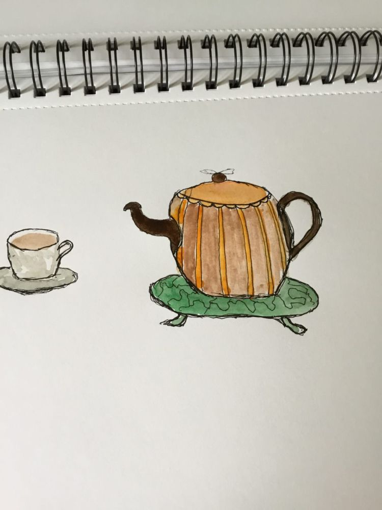 Today's Awesome Autumn prompt is COZY…..my immediate thought was that lovely pot of tea, in