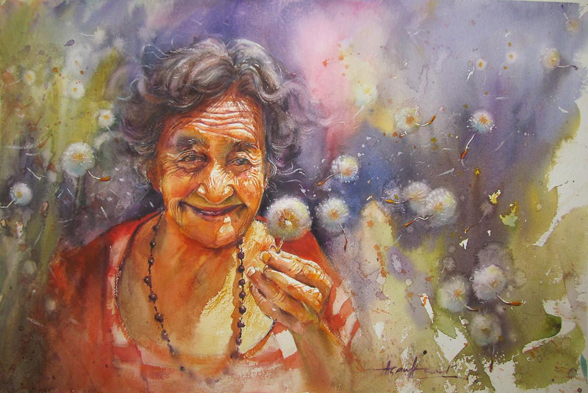 #WorldWatercolorGroup - Watercolour by Asanka Wijerathna - Doodlewash