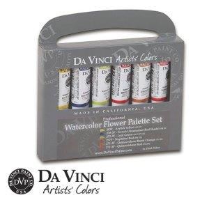 Da Vinci Paint Co. Watercolor Flowers Palette
