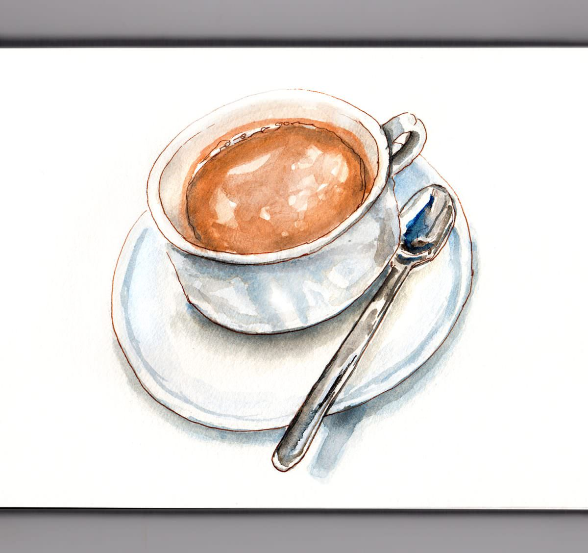 #WorldWatercolorGroup - Day 14 - A Cup Of Hot Cocoa - Doodlewash