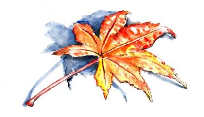 Day 19 - Quick Little Autumn Leaf