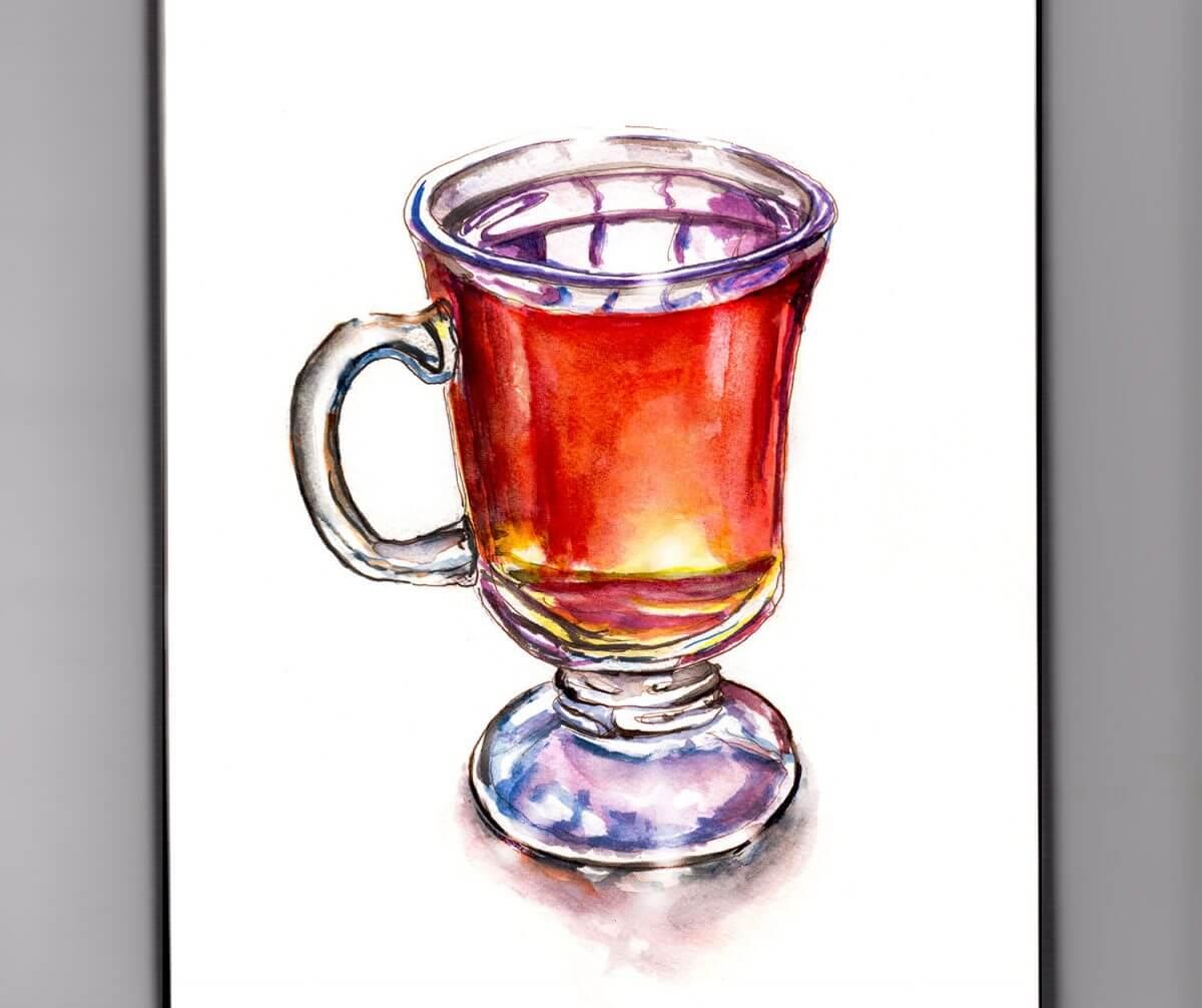 #WorldWatercolorGroup - Day 27 - A Mug Of Cider - Doodlewash