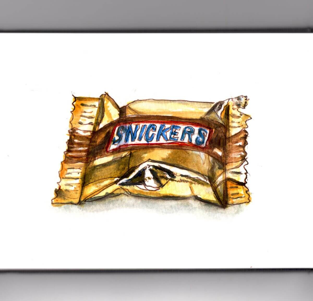 #WorldWatercolorGroup - Day 28 - Snickers Halloween Candy - Doodlewash