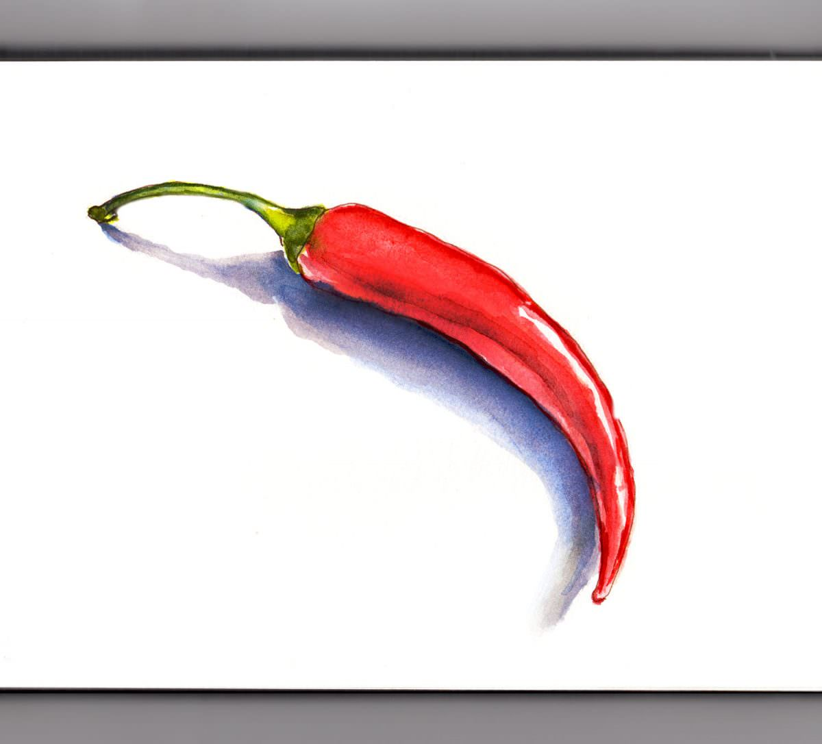 #WorldWatercolorGroup - Day 6 - Chili Peppers On A Chilly Day - Doodlewash