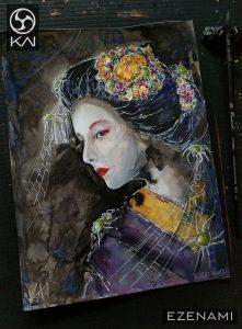 a very witchy looking inktober maiko – turned out waaaaay too old and grumpy looking o.O EZENA
