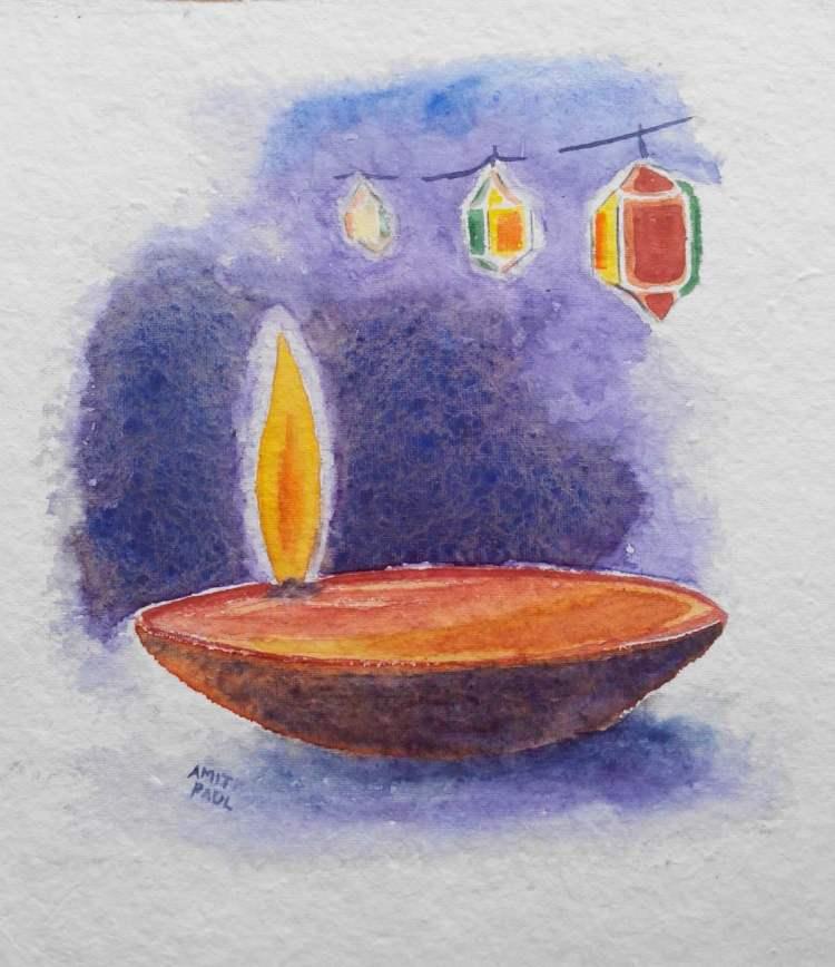 Deepawali (6*7″) Today is the festival of light (Diwali / Deepawali) in India. Decorations, Sw
