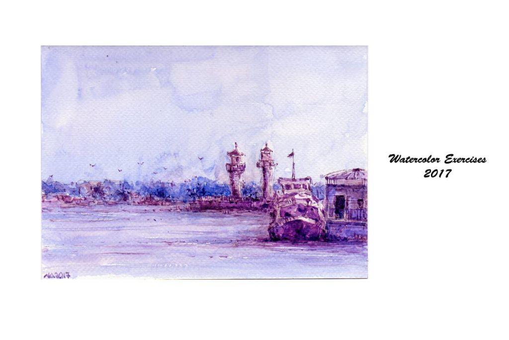 Lavender harbor 😀 #WorldWatercolorGroup WCE_18
