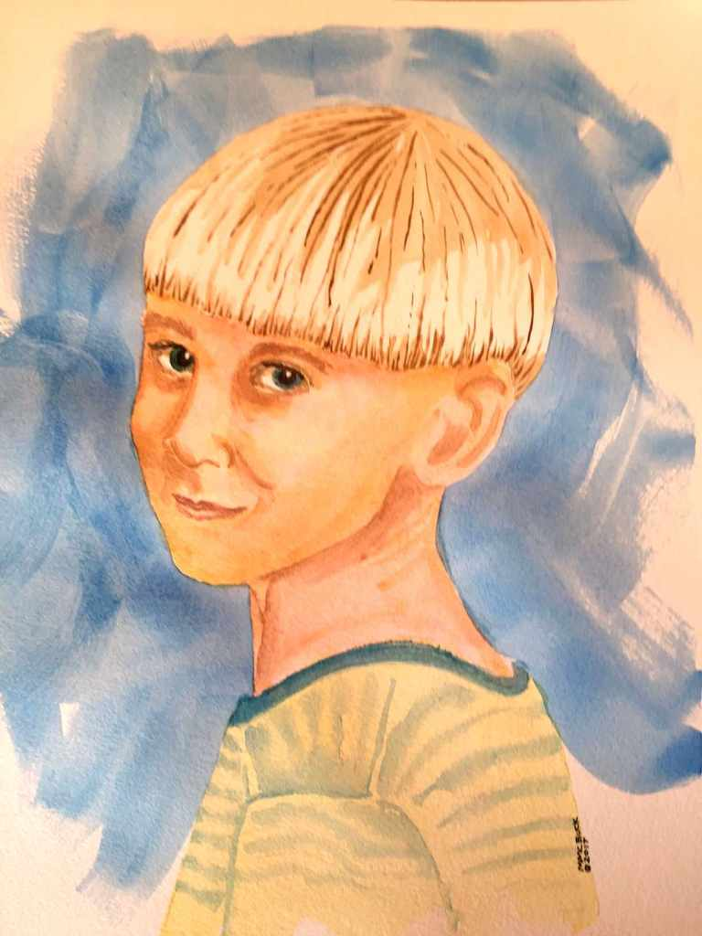 Learning to do some portrait watercolors. codyyoung