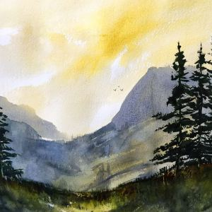 """Morning Has Broken"" – Original Watercolor"
