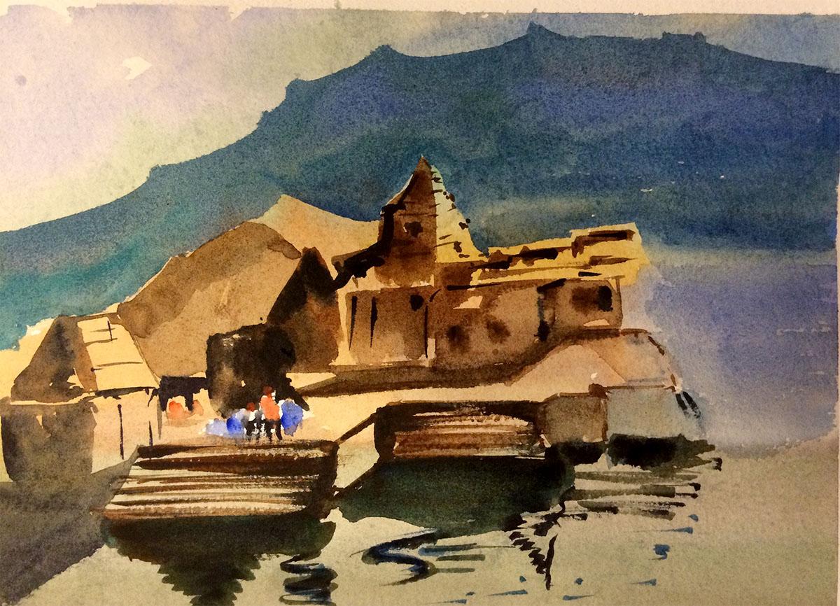 #WorldWatercolorGroup - Watercolor Painting by Jyotsna Umesh - Doodlewash