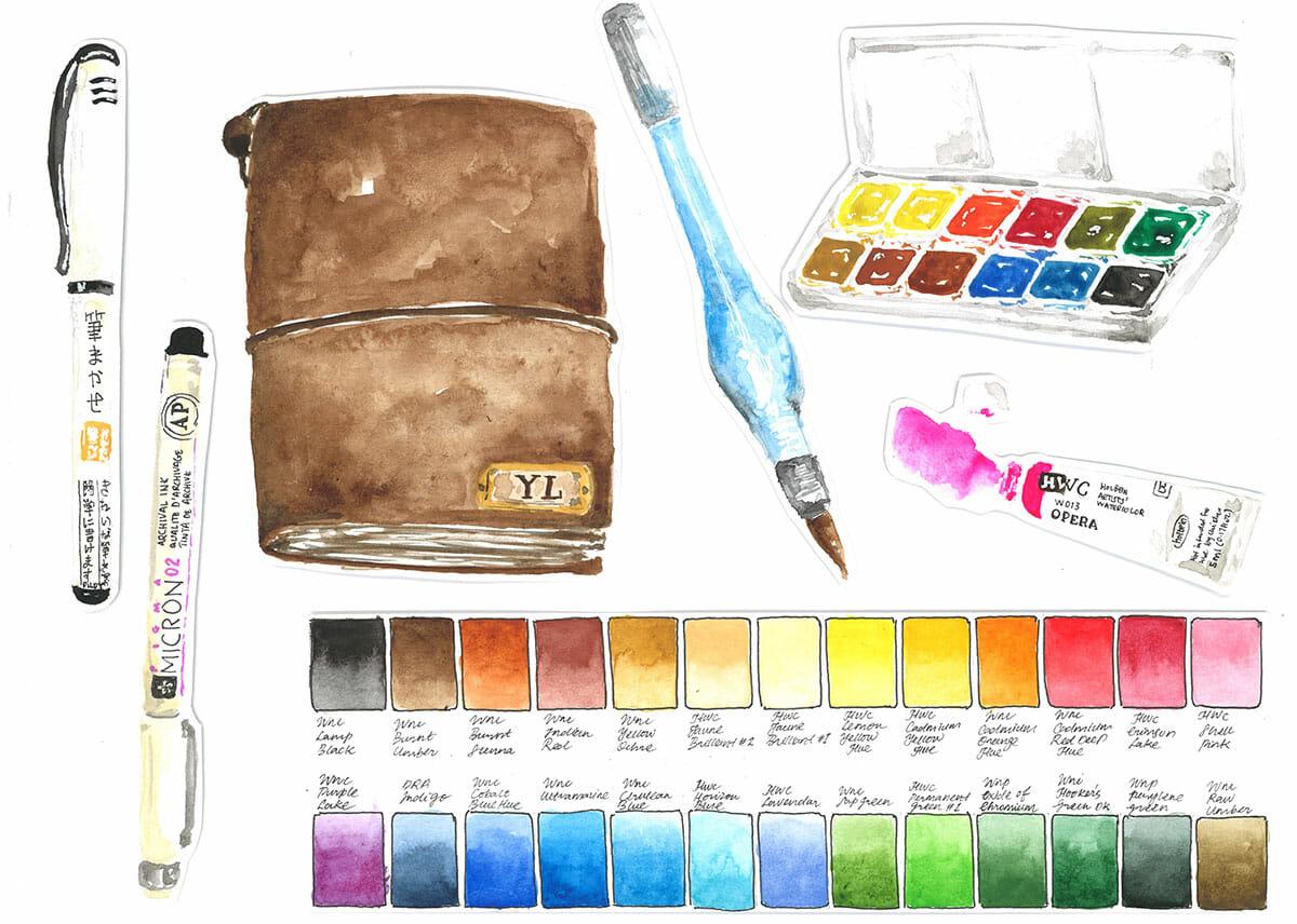 #WorldWatercolorGroup - Watercolor Painting by Yee Leng - Doodlewash