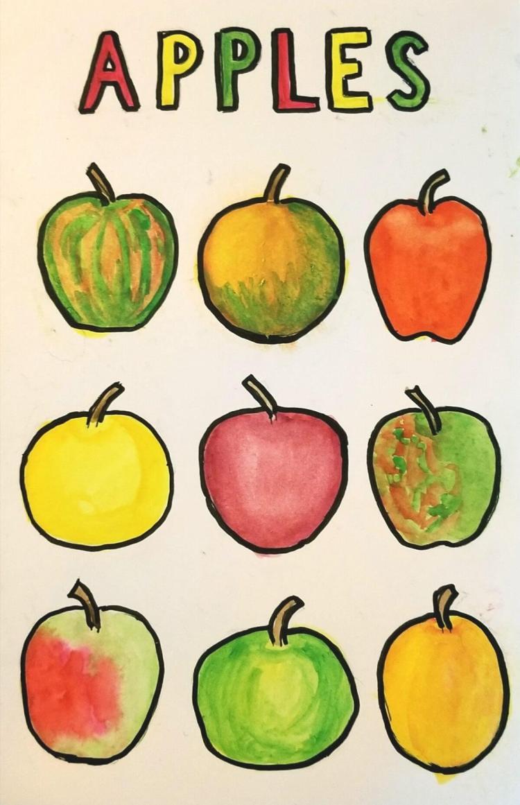 Apples 11/2/2017 #worldwatercolorgroup 20171101_011715