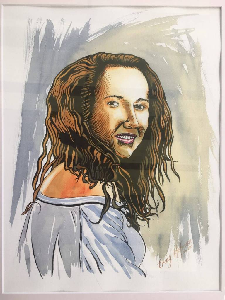My niece, painted for a showing at the portrait class I attend. Has a few issues but not too bad. It